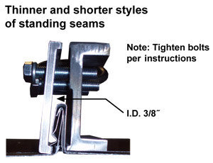 Two-Way Universal Standing Seam Clamp